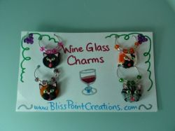 Cat Wine Glass Charms-Set 2